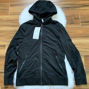 Cross cut hoodie men lululemon jacket black